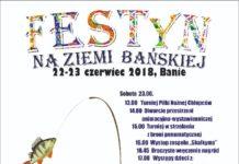 Plakat festyn ziemi bańskiej 2018