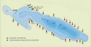 jezioro wygonin, mapa stanowisk